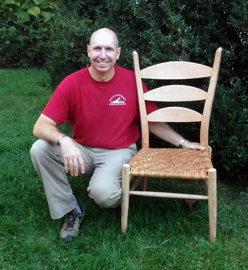 Side Chair Class, Day Six: Mark is a happy chairmaker!