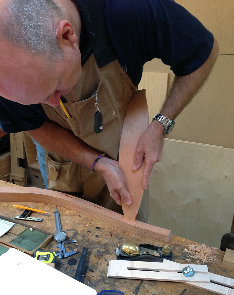 Side Chair Class, Day Two: Testing the fit of slat tenon