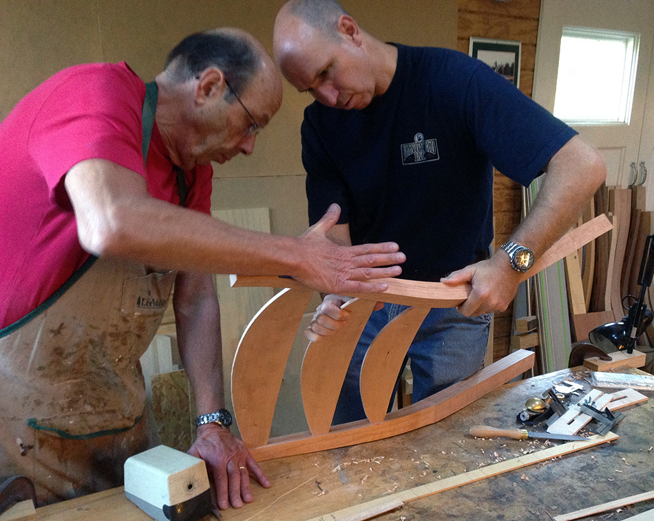 Side Chair Class, Day Two: Final dry fit of the rear panel