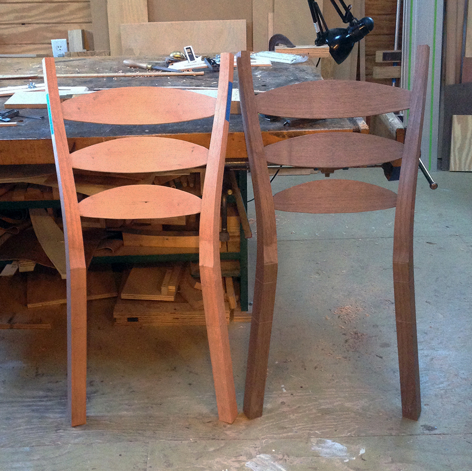 Side Chair Class, Day Two: At the end of the day the slats are fitted and you begin to get a sense of how the chair will look