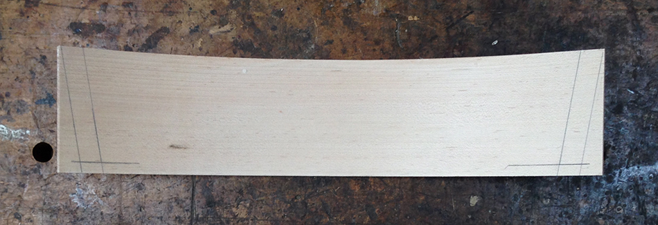 Add lines for the outside edge of the tenons using the bevel gauge