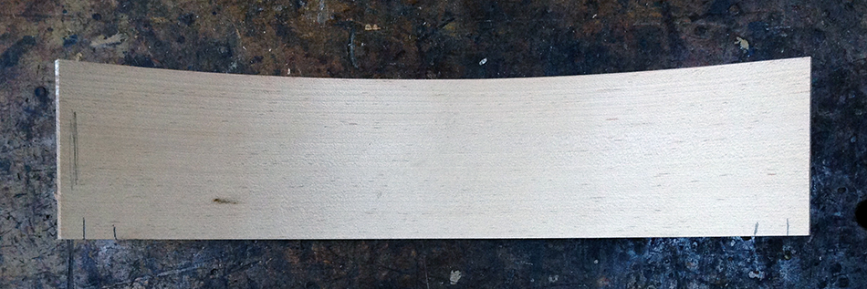 Add an inch outside of the marks for each shoulder to establish full width of the slat