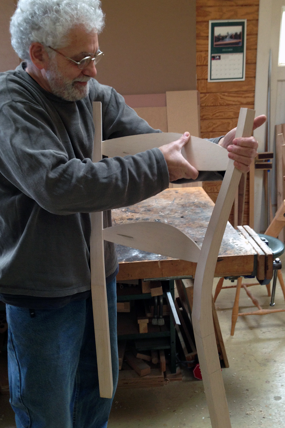 Fitting Slats: Squeezing the rear panel assembly together