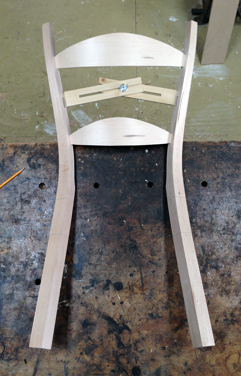 Fitting Slats: Using the measuring jig to measure for the middle slat