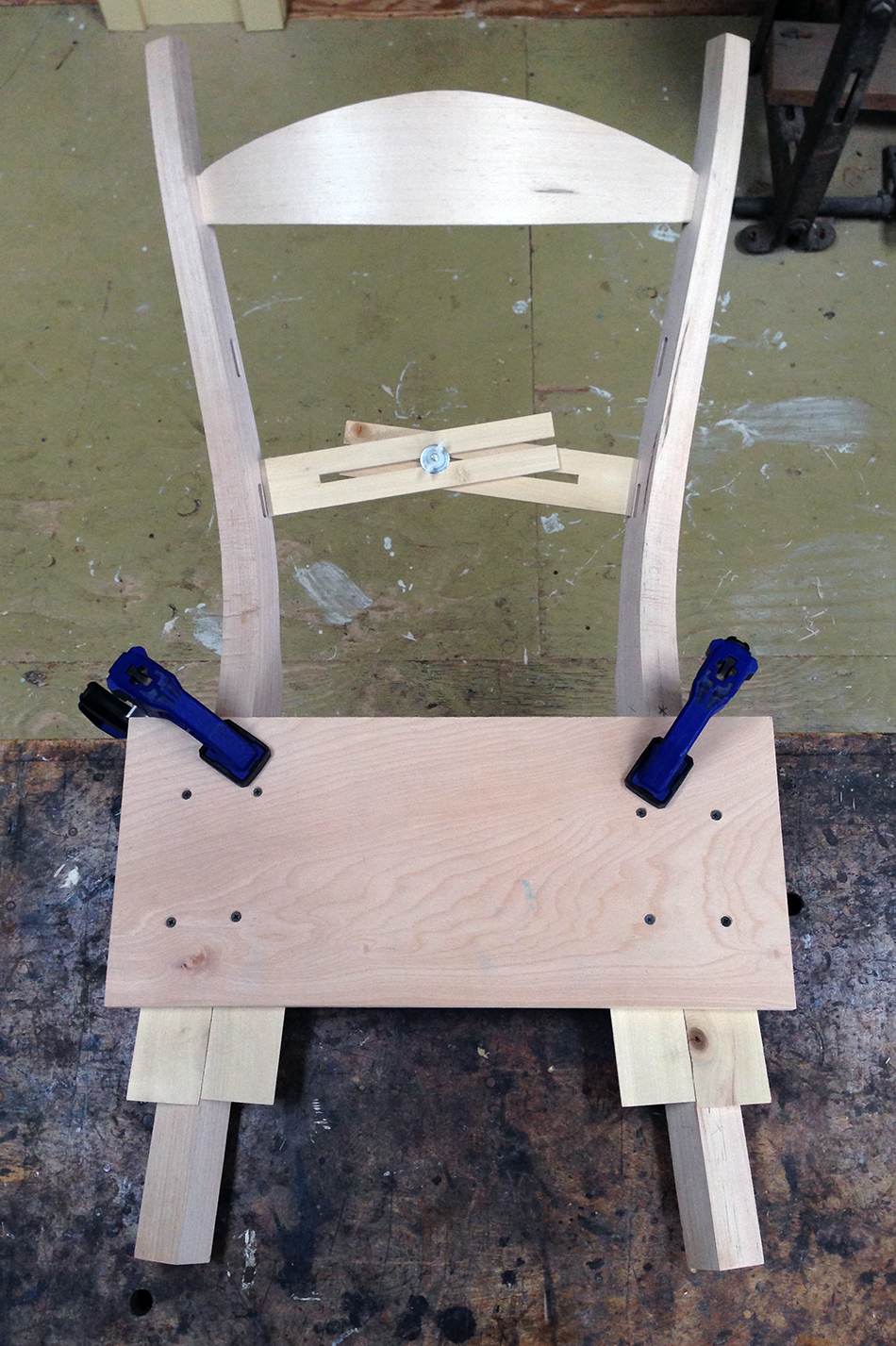 Fitting Slats: Using the measuring jig to measure for the bottom slat