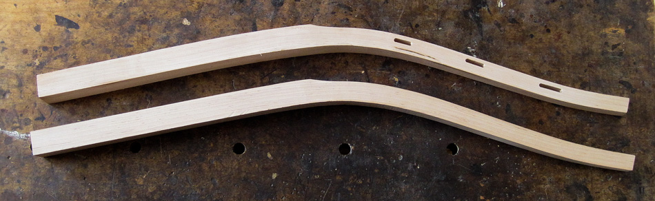 Shaping the rear legs: This pair of rear legs are ready for hand shaping