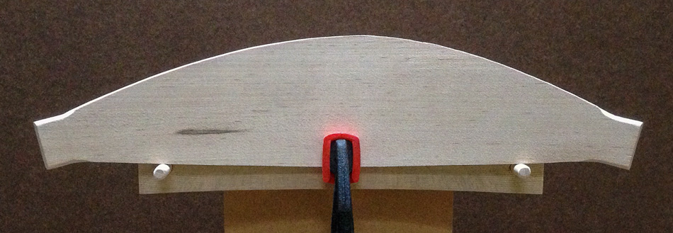 Shaping the slats: The left side of top edge has been shaped. The right side is untouched.