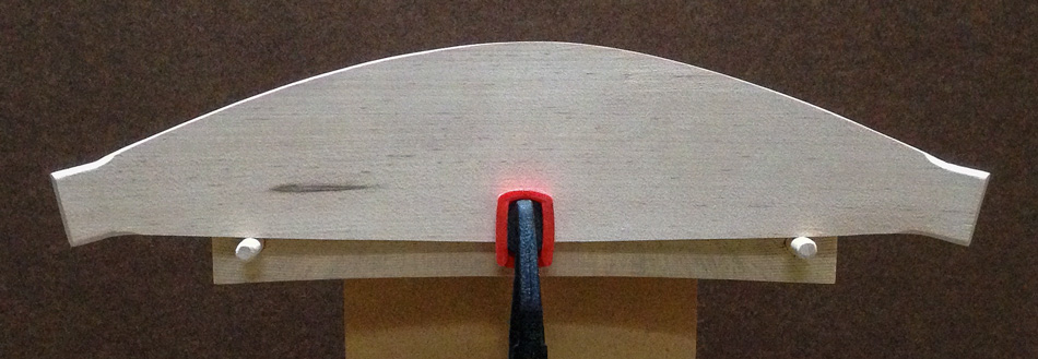Shaping the slats: The top edge has been shaped into a pleasing and symmetrical profile