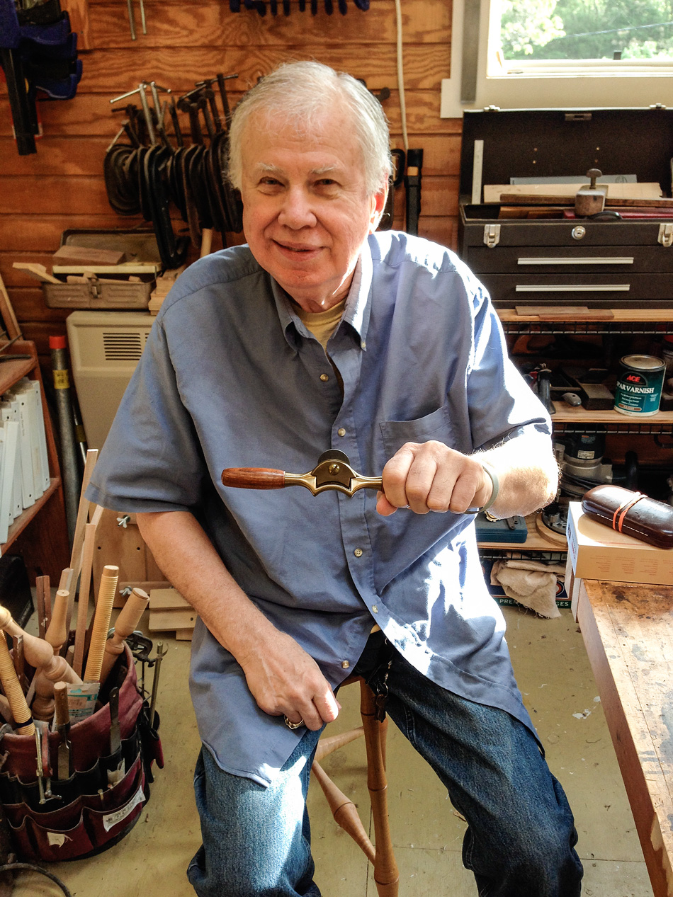 Aivars Krasts came to class with this spokeshave that was handmade by Brian in the early 90s