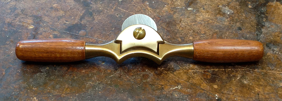 Handmade Boggs spokeshave, front view