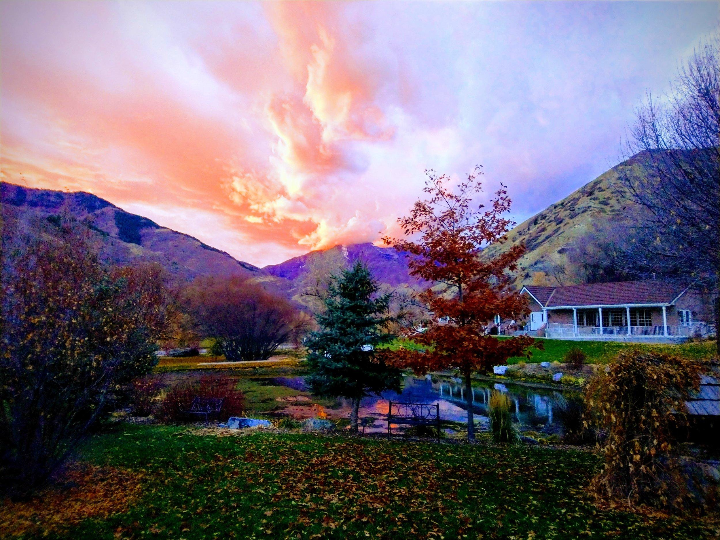 Beautiful Fall Sunsets at the Ranch