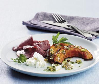 Fårfiol her servert med geitost og pistasjevinagraitte.  Bildet er lånt fra ica.se