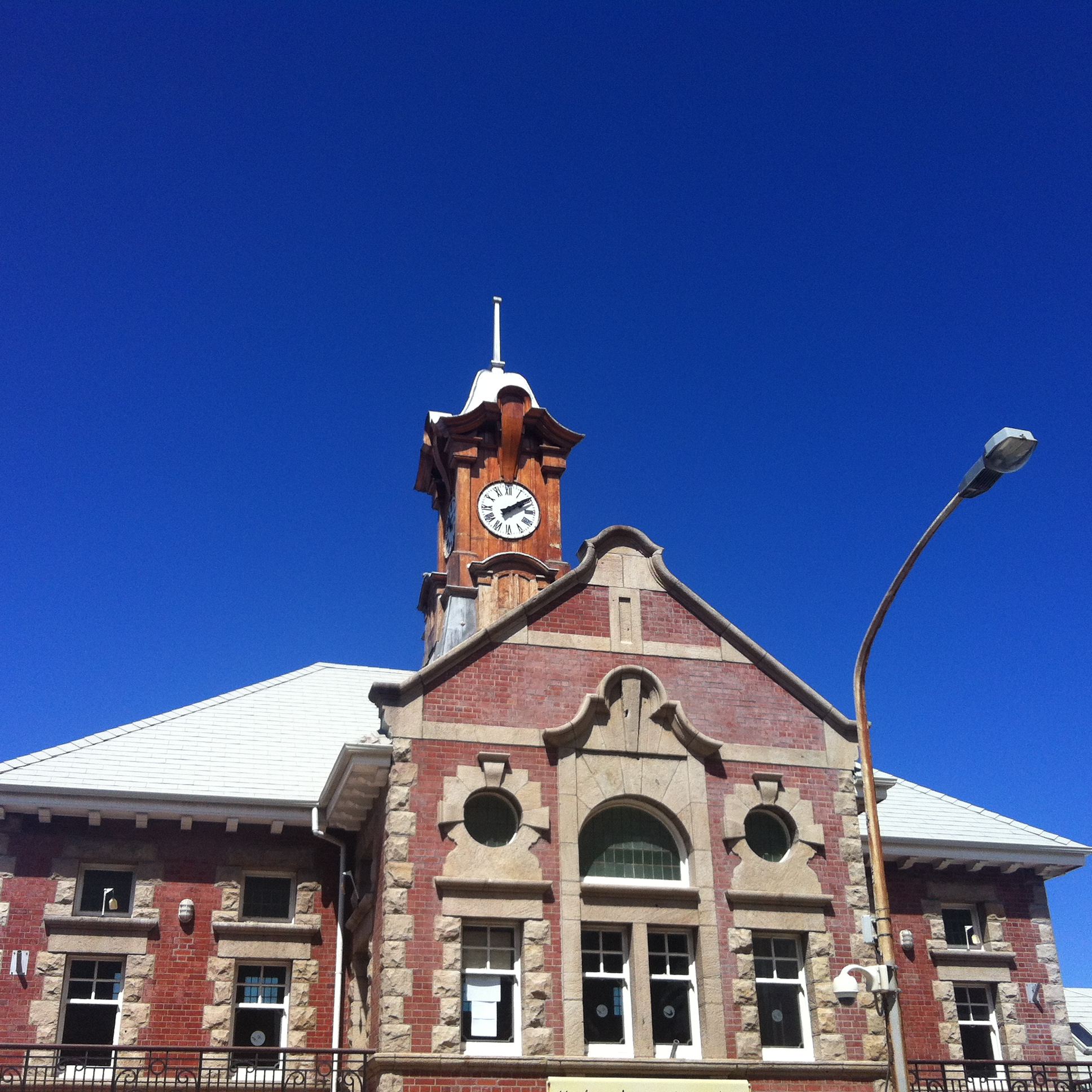 I crossed Main Road to get this shot of the upper part of the Muizenberg Station. I especially love the wooden clocktower, but there are loads of great architectural features you can capture in and around the station.