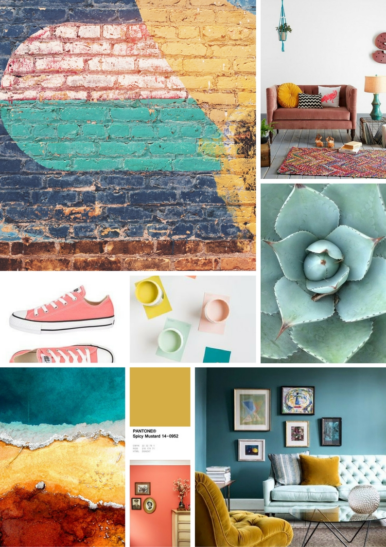 Moody moodboard created with  Canva