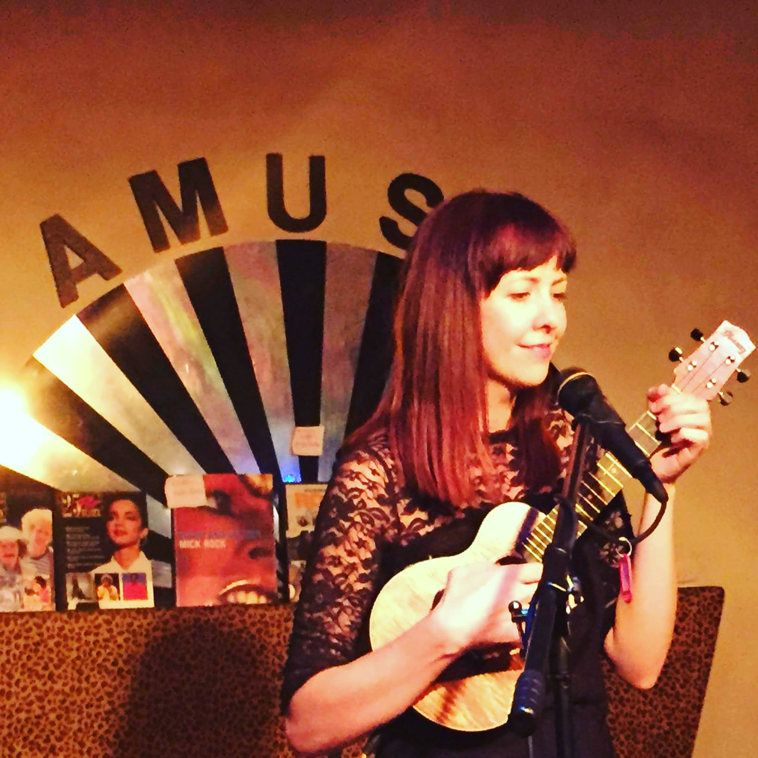 A photo from my birthday gig at Amuse Cafe.