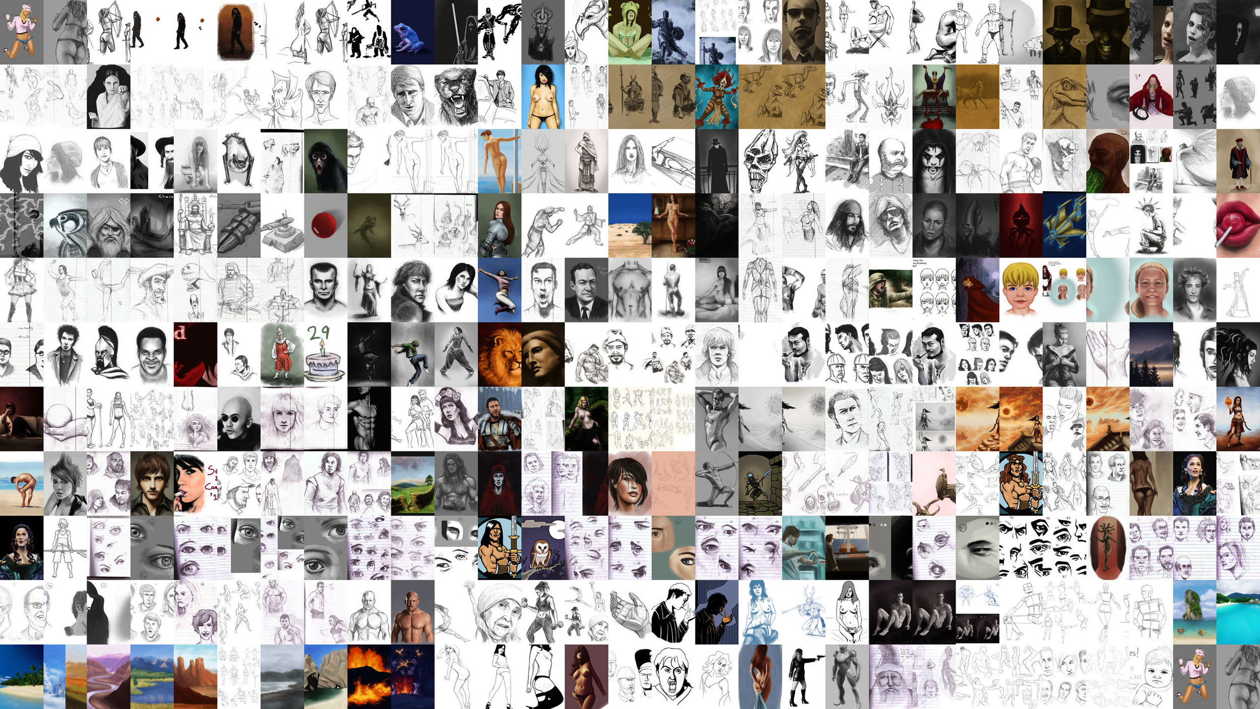 A year's worth of work by Gareth Fouche