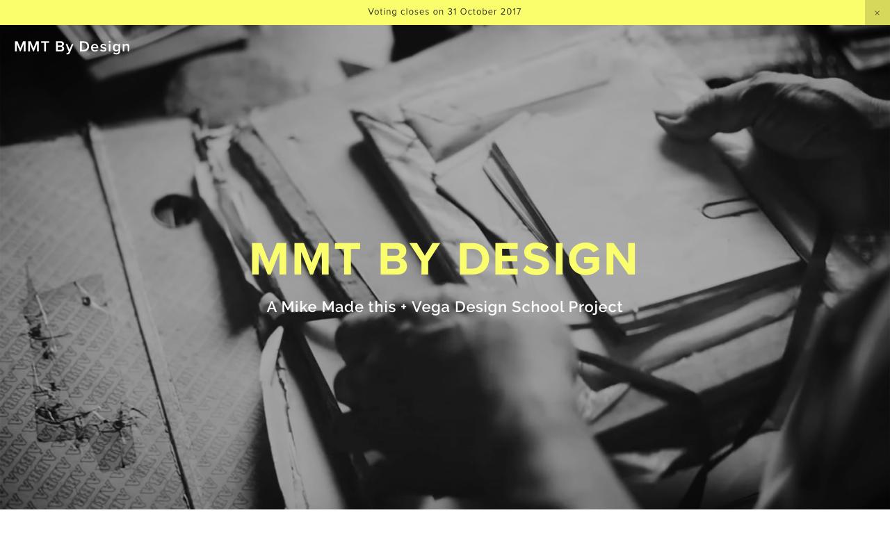 MMT by Design's site as it appears in a desktop view.