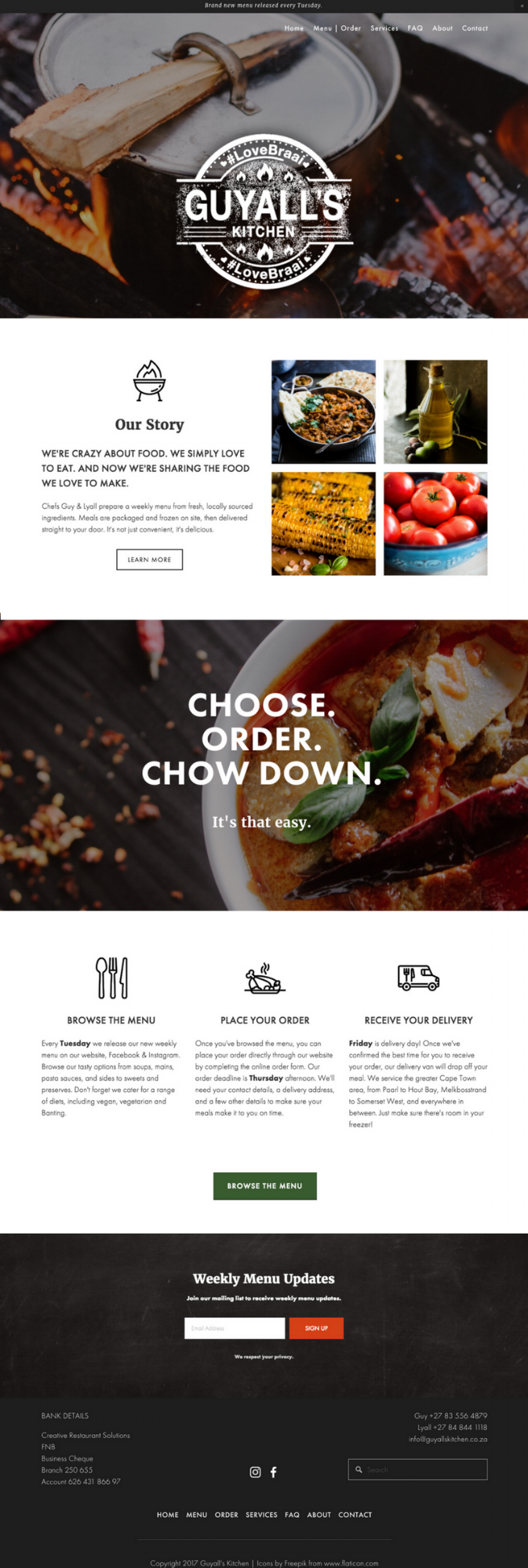 Home page for Guyall's Kitchen