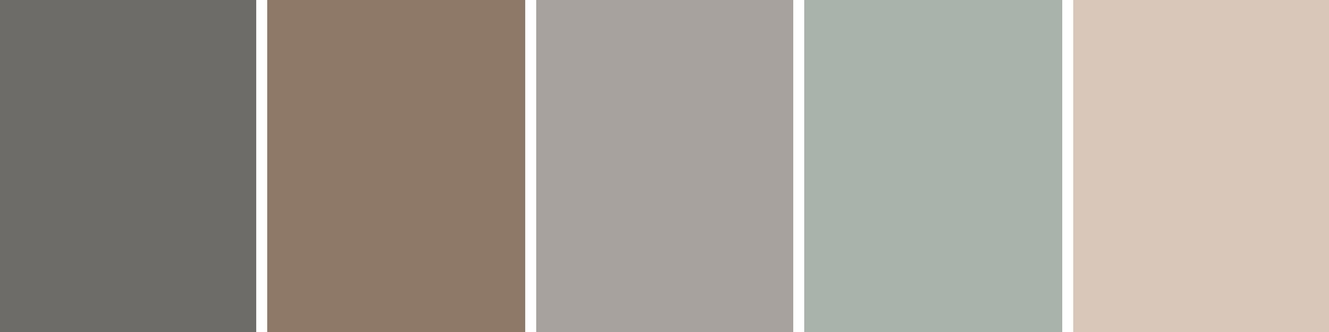 Muted vintage tones for the site.