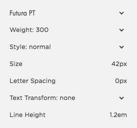Your options when adjusting fonts