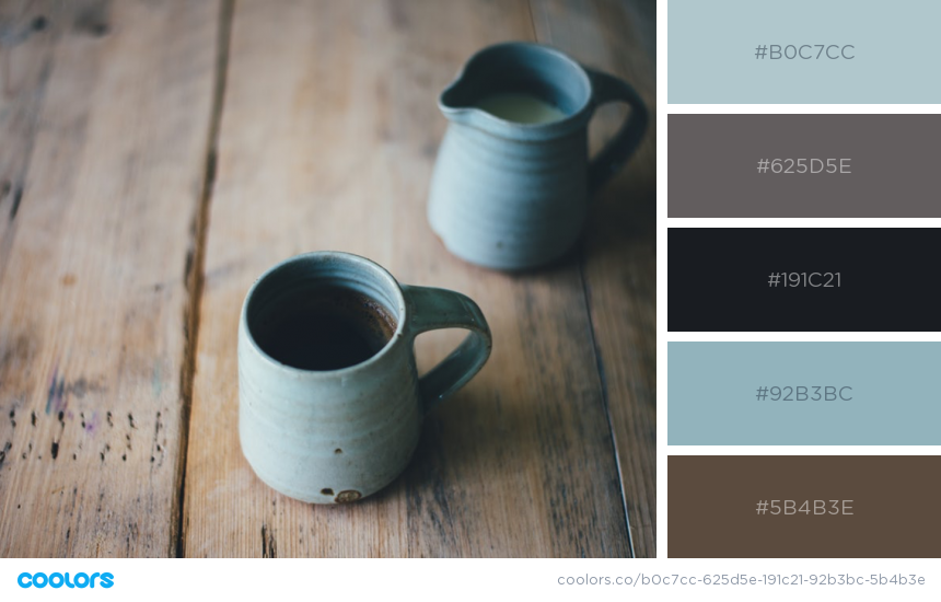 Site colour palette drawn from image