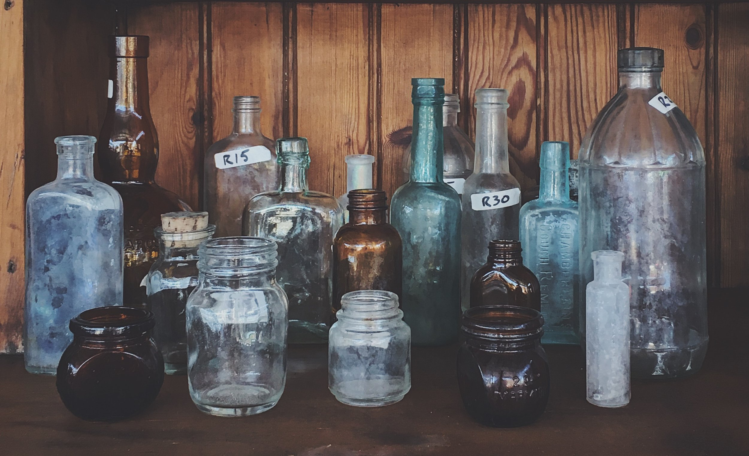 vintage glass bottles.JPG