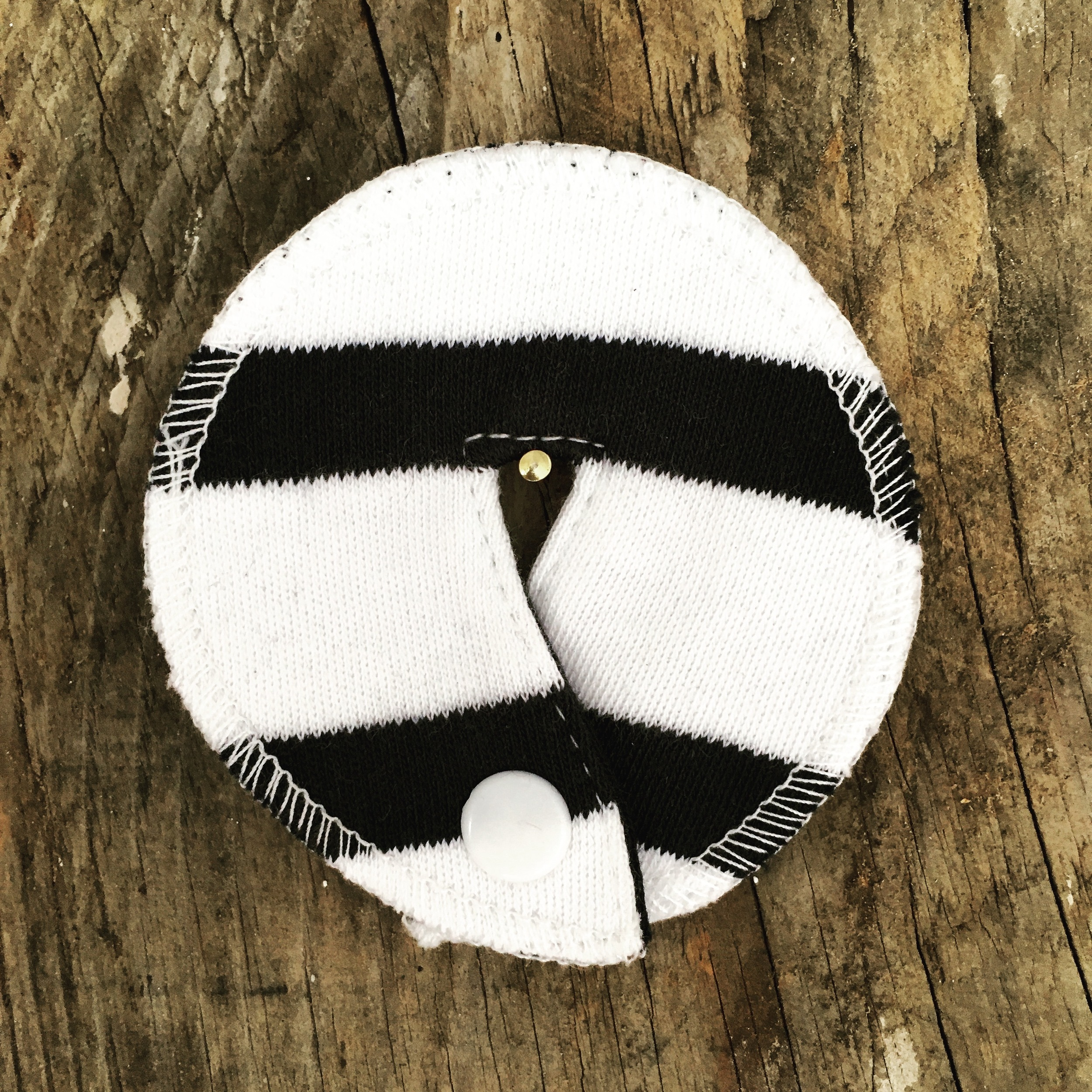 Navy stripe button cover £1.50 one size