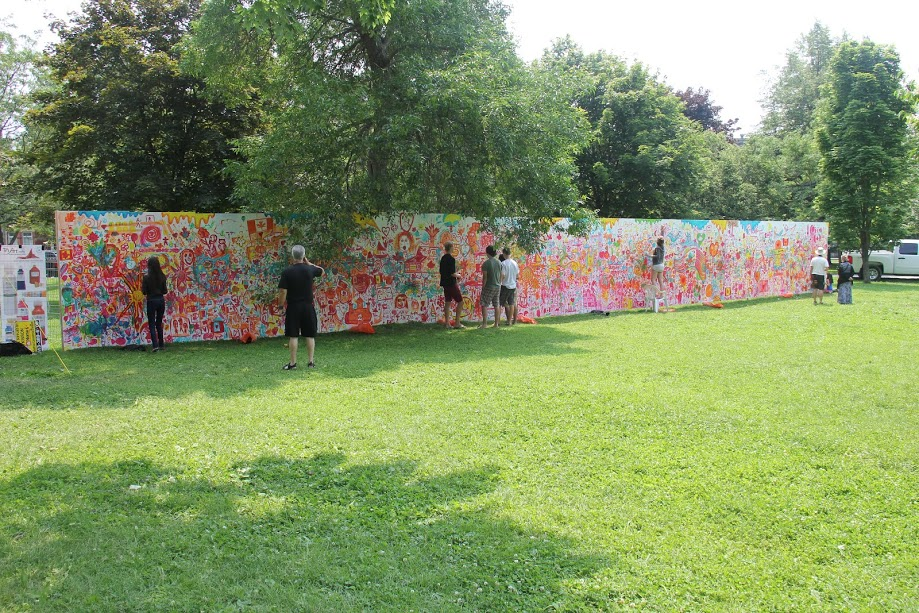 Artfest Mural ~ day 2