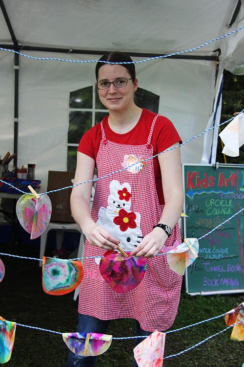 Artfest Kids workshop assistant Kathleen Greenwood