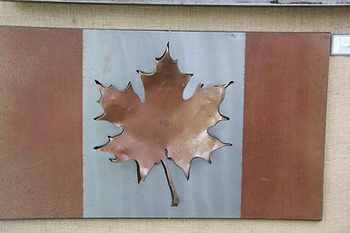 Iron Oak Designs~ Metal Canadian Flag