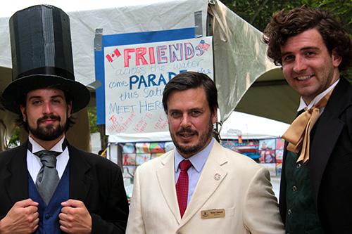 Abraham Lincoln, Peter Stoud Deputy Mayor of Kingston and Sir JA Macdonald