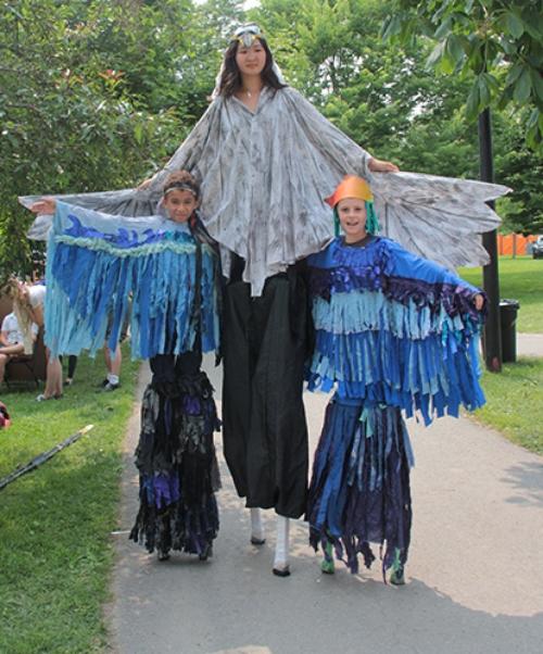 New Stilt Walkers at Artfest