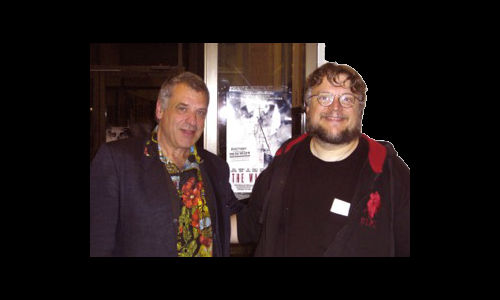Artfest Photographer & indie director, Steve Veale with Guillermo Del Toro
