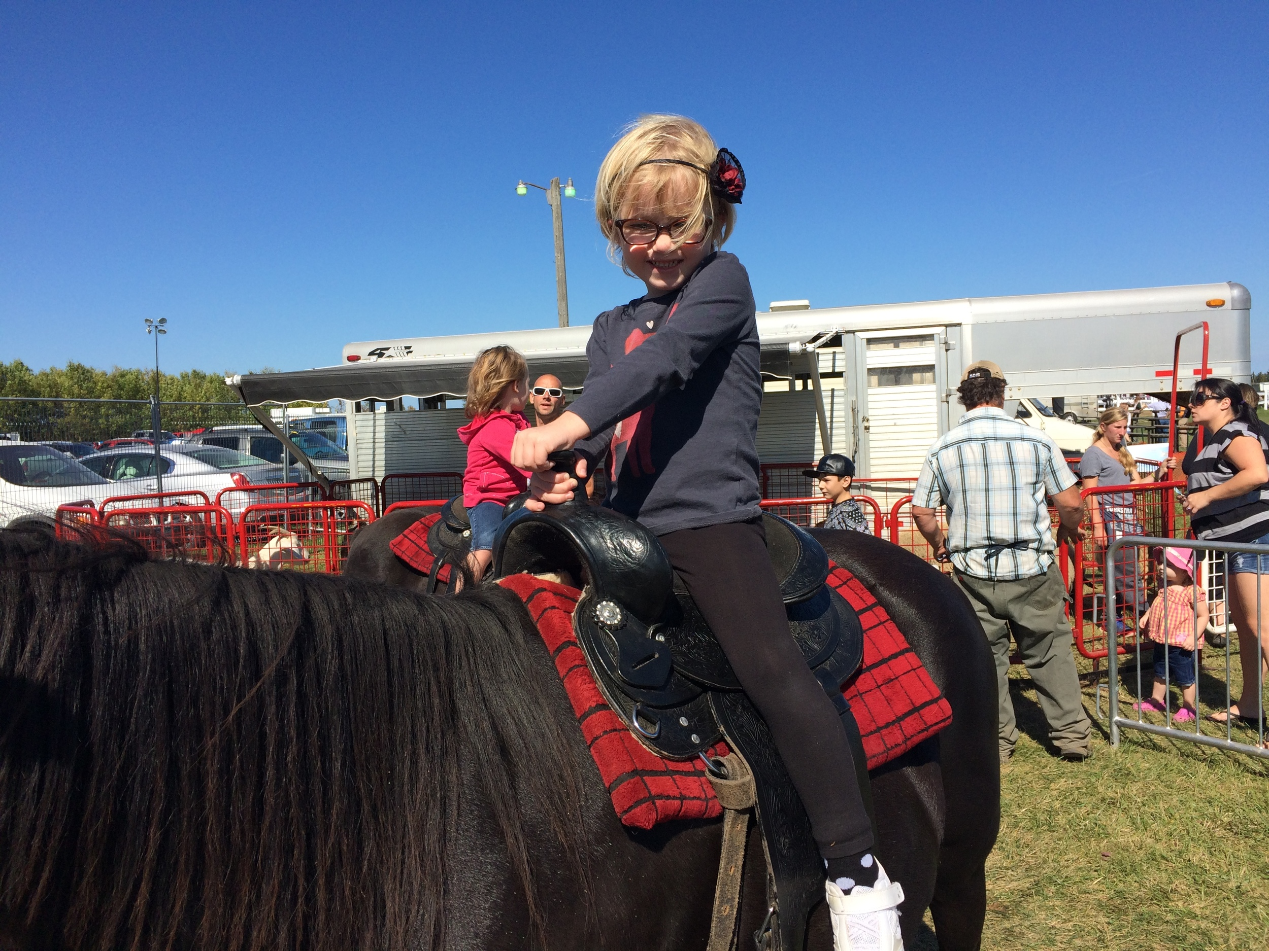 Pony ride at the Collingwood GNE fall fair