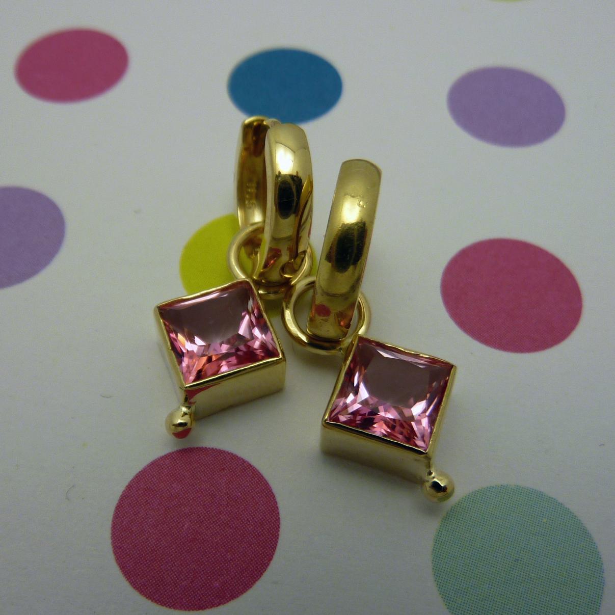 GISELE - pink topaz 14k enhancers and hoops (4).JPG