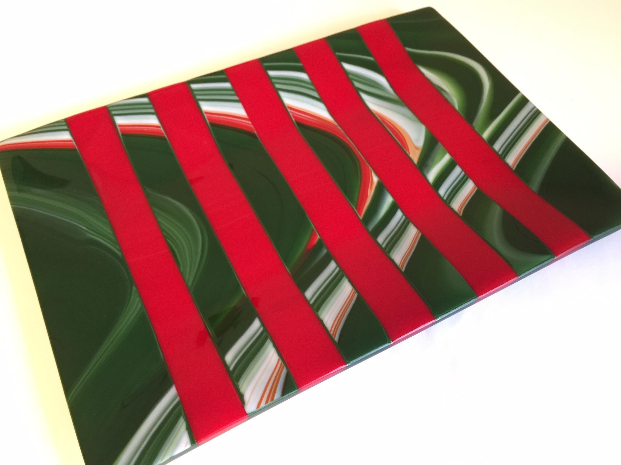 Sarah Dionne Holiday Platter II, 8x13x1, $60.jpg