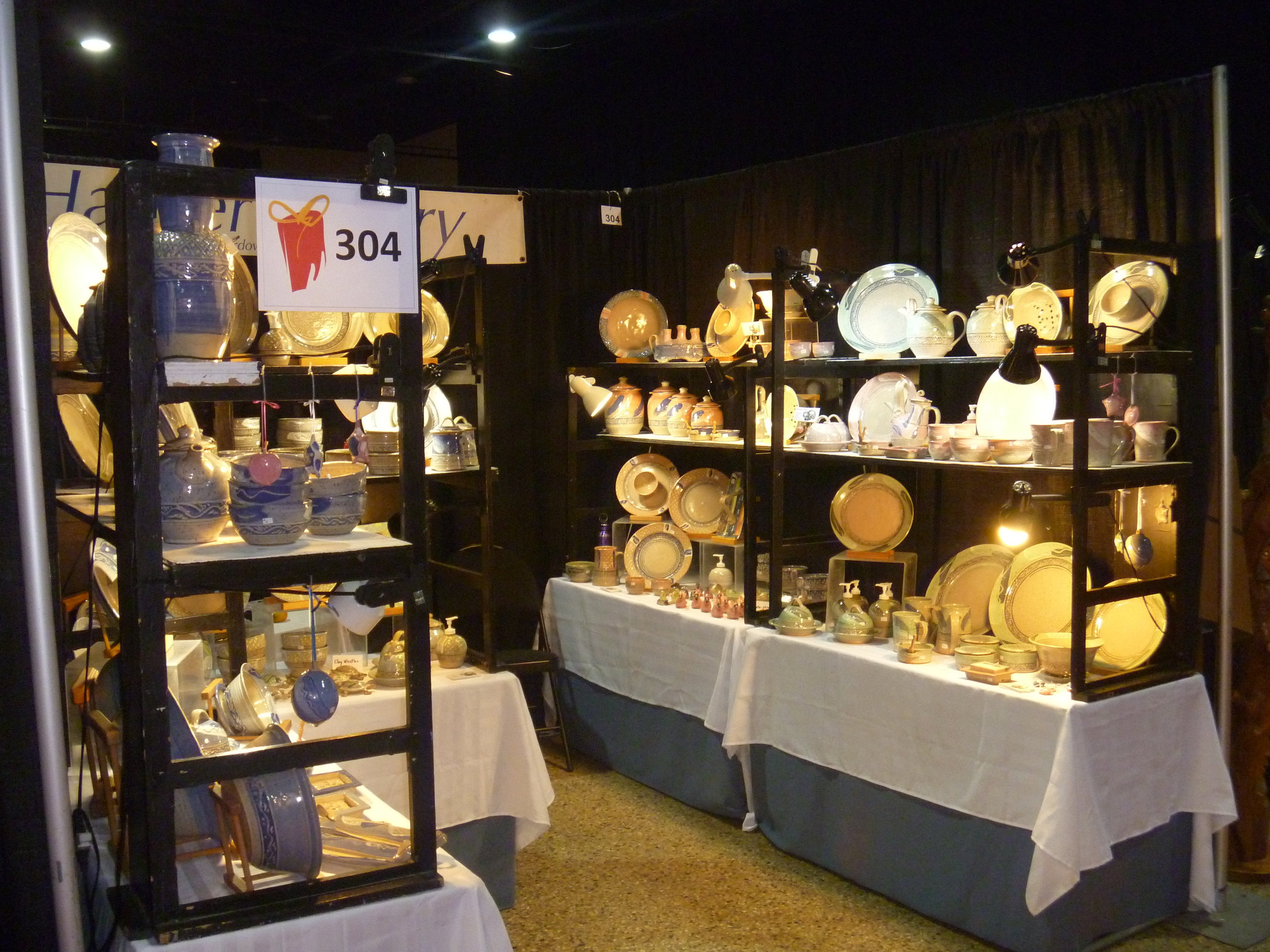 8 Harper pottery Booth Display.JPG