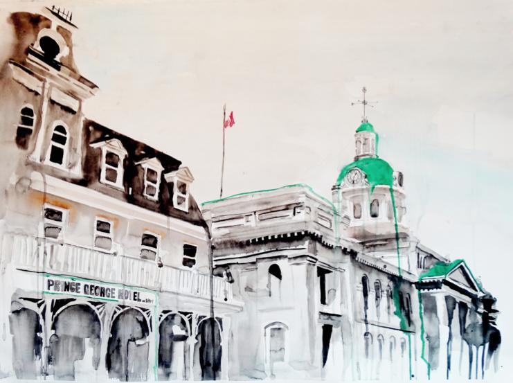 Prince+George+Hotel+&+Kingston+City+Hall+_+Art+by+Anthony+Buttazzoni+_+www.anthonybuttazzoni.png