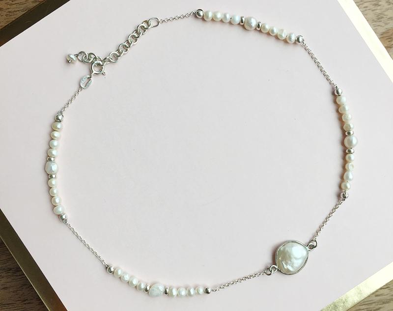 Aiyana Jewelry-'Remain Soft Darling' Fresh water Pearl Sterling Silver Choker.JPG