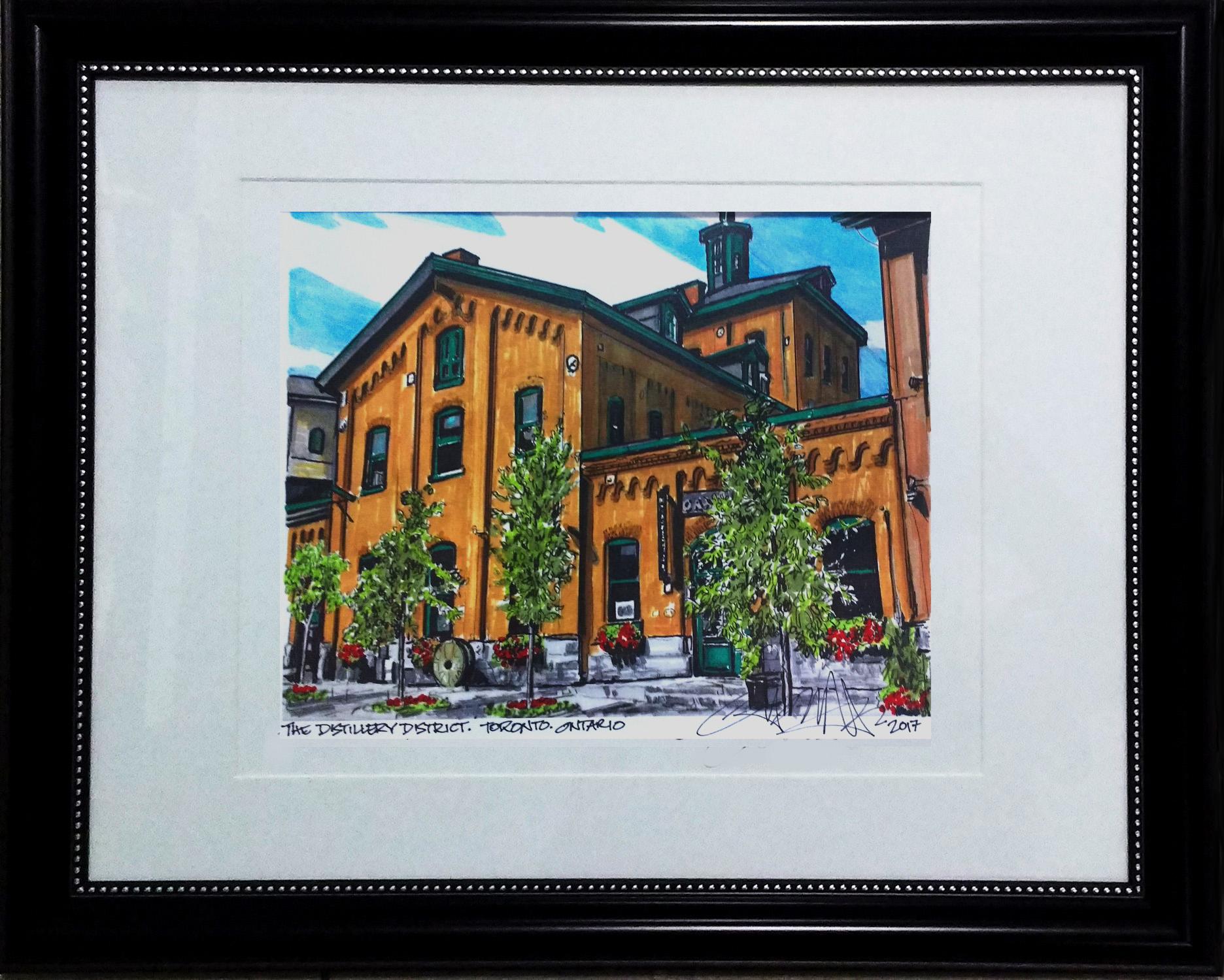Framed Distillery District Toronto Illustrated.jpg