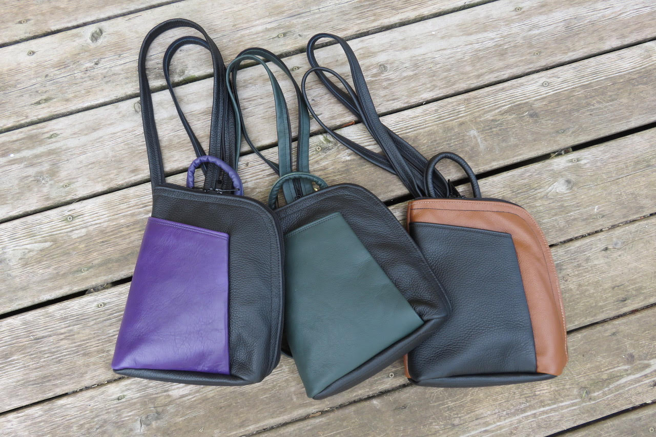 1)Arrowsmith Stroll x 3, Black w Purple, Black w Green, Tan w Black.jpg