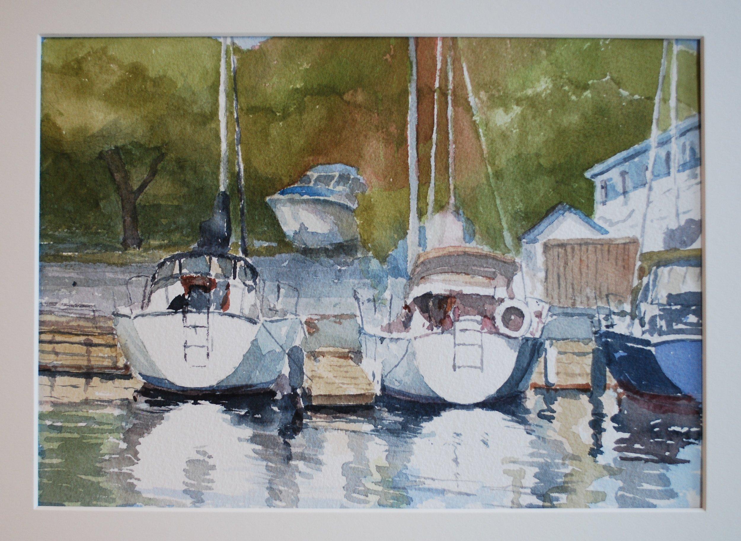 James LePage.Bronte Yacht Club, Watercolour. Plein Air painting, 10 x 12 (1).JPG