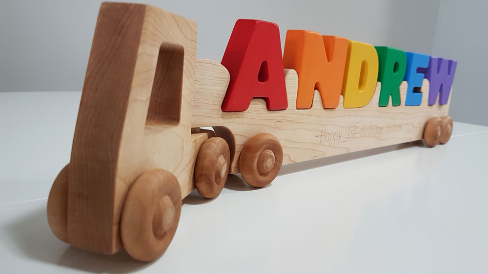 Wooden Puzzle Name Canada
