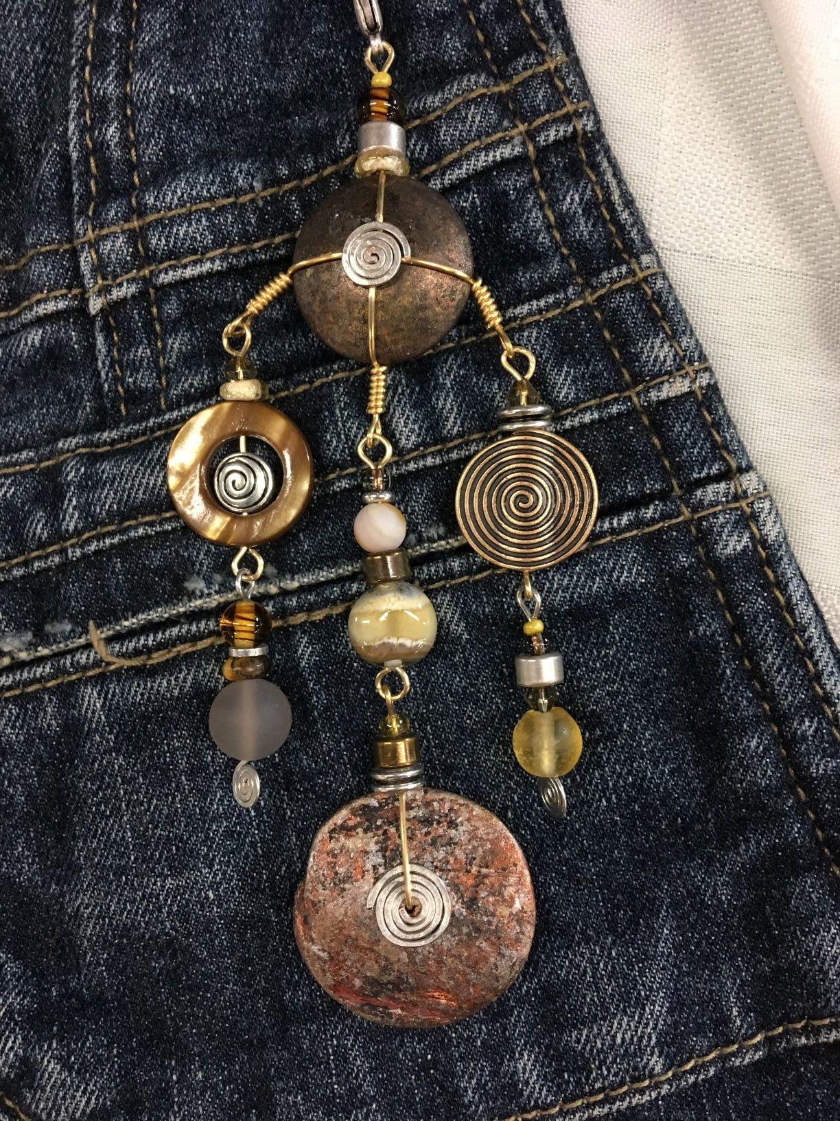 Rachel Joy VanRooyen, Hand Crafted Jewellery, Signature Design called a Treasure Pendant.JPG