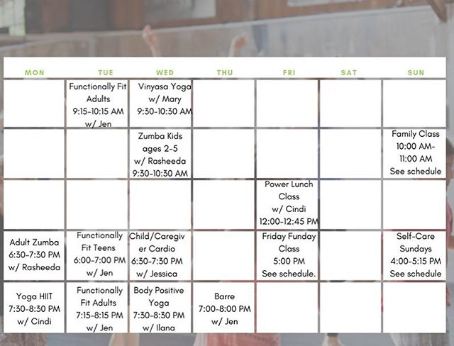 REMINDER // Our Fall Schedule starts the week of Sept 9th. Stay tuned for Fall discounts and new membership packages!
