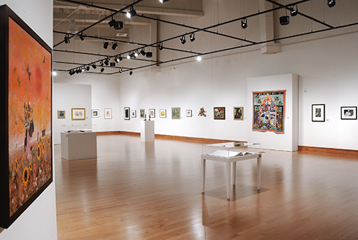 Installation view,  Collectors' Legacy: Selections from the Sandra and Lloyd Baccus Collection,  courtesy David C. Driskell Center