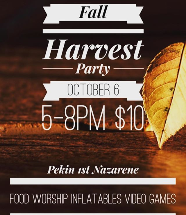 This Saturday we have our District wide fall harvest party! We will have food, drinks, archery tag, inflatables, a gaming trailer, and more! City on a Hill band will lead us in late night worship. It is $10 to attend and you must have your permission slip filled out. The link for the permission slip is in the bio. You won't want to miss this awesome event!