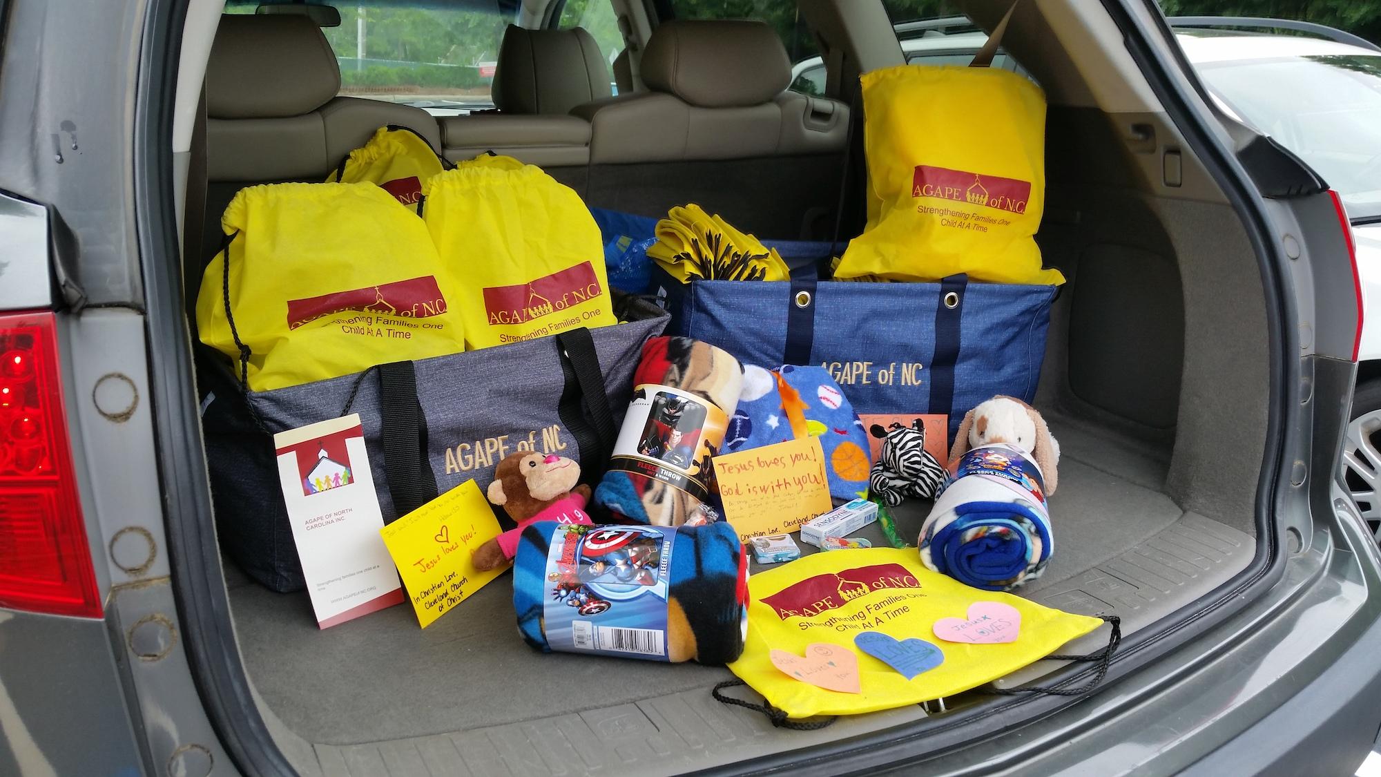 Agape of NC Backpacks in Delivery.jpg