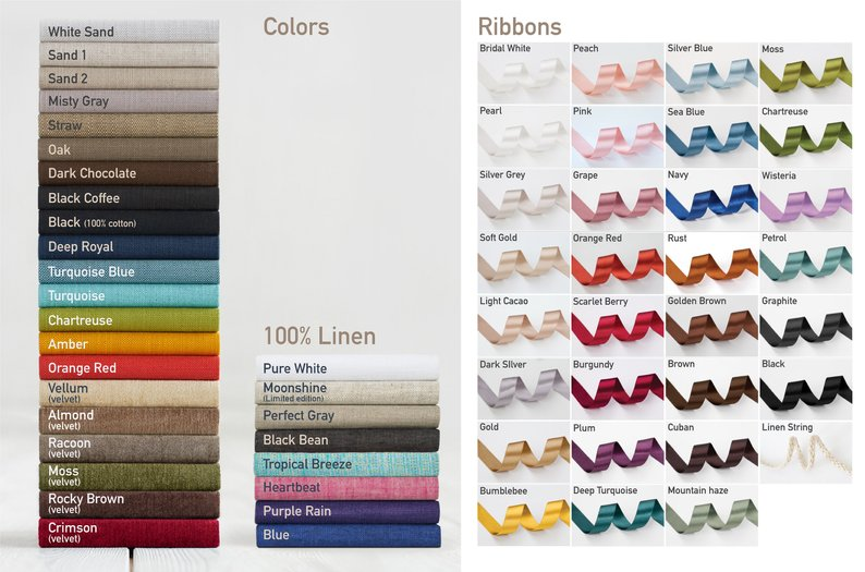 Customise - Choose the folio material and ribbon colour.