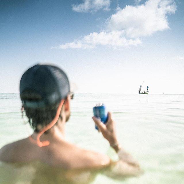 We fished really hard in Key West, until we found this sandbar... . . . . . . . . #keywest #floridakeys #tarpon #tarponfishing #flyfishing #saltwater flyfishing #permit #bonefish #islamorada